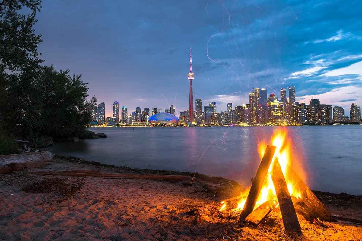 Toronto Islands Beaches